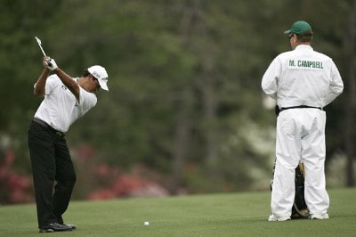 Michael Campbell during practice for the 2007  Masters at the Augusta National Golf Club in Augusta, Georgia, on April 4, 2007. The 2007 Masters - Practice - April 4, 2007Photo by Sam Greenwood/WireImage.com