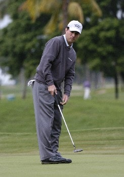 Mike Weir competes in first-round competition March 3, 2005  at the Ford Championship at Doral in Miami.  Weir shot a 73.