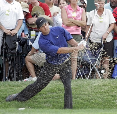 Chris Couch can't get his second shot on the green at the Zurich Classic of New Orleans at the English Turn Golf & Country Club in New Orleans, Louisiana on April 30, 2006.Photo by Gregory Shamus/WireImage.com