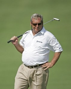 Fuzzy Zoeller reacts to a missed putt on #16 during the first round of the 3M Championship held at TPC Twin Cities in Blaine, Minnesota, on August 4, 2006.Photo by: Chris Condon/PGA TOUR