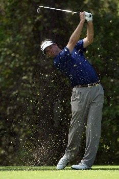 LAKE BUENA VISTA, FL - NOVEMBER 02:   Brent Geiberger tees off on the 8th tee on the Palm Course during the second round of The Childrens Miracle Network Classic held on the Palm and Magnolia Courses at The Disney Shades of Green Resort, on November 2, 2007 in Lake Buena Vista, Florida.  (Photo by David Cannon/Getty Images)