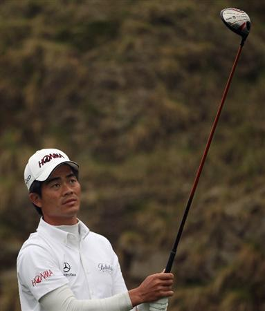 ICHEON, SOUTH KOREA - APRIL 30:  Liang Wen-chong of China in action during the third round of the Ballantine's Championship at Blackstone Golf Club on April 30, 2011 in Icheon, South Korea.  (Photo by Andrew Redington/Getty Images)