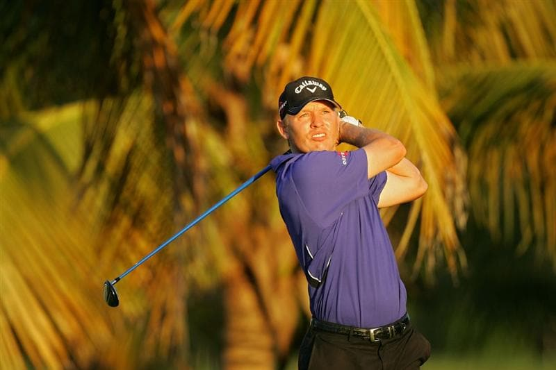 RIO GRANDE, PR - MARCH 14:  Derek Lamely hits his shot on the third tee during the third round of the Puerto Rico Open presented by Banco Popular at Trump International Golf Club held on March 14, 2010 in Rio Grande, Puerto Rico.  (Photo by Michael Cohen/Getty Images)