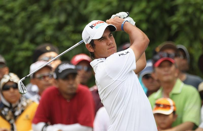KUALA LUMPUR, MALAYSIA - APRIL 17:  Matteo Manassero of Italy in action in action during 4th round of the Maybank Malaysian Open at Kuala Lumpur Golf & Country Club on April 17, 2011 in Kuala Lumpur, Malaysia.  (Photo by Ian Walton/Getty Images)