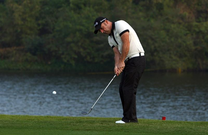 SHENZHEN, CHINA - NOVEMBER 26:  Paul McGinley of Ireland in action during the Pro - Am of the Omega Mission Hills World Cup at the Mission Hills Resort on November 26, 2008 in Shenzhen, China.  (Photo by Ian Walton/Getty Images)