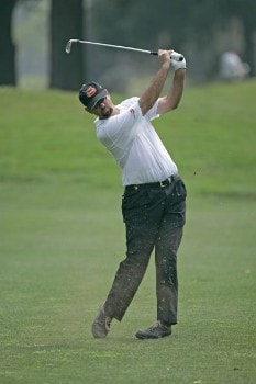 Brenden Pappas hits from the 3rd fairway in the first round of the 2005 B.C. Open at En-Joi Golf Club in Endicott, New York. Thursday, July 14 2005Photo by Chris Condon/PGA TOUR/WireImage.com