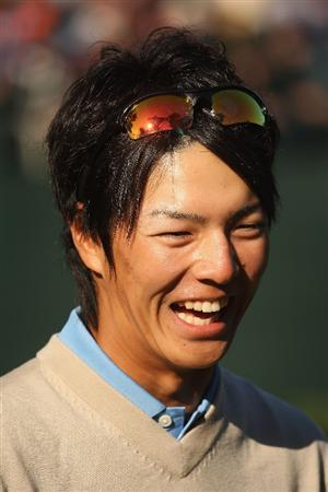 SAN FRANCISCO - OCTOBER 09:  A portrait of Ryo Ishikawa of the International Team smiles during the Day Two Fourball Matches of The Presidents Cup at Harding Park Golf Course on October 9, 2009 in San Francisco, California.  (Photo by Warren Little/Getty Images)