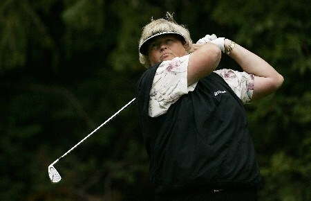 EDMONTON, CANADA - AUGUST 18:  Laura Davies of England makes a tee shot on the second hole during the third round of the LPGA CN Canadian Women's Open 2007 on August 18, 2007 at the Royal Mayfair Golf Club in Edmonton, Alberta, Canada.  (Photo by Robert Laberge/Getty Images)
