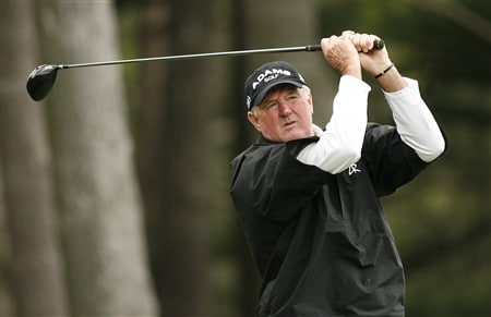 ROCHESTER, NY - MAY 22: Allen Doyle hits his tee shot on the fourth hole during the first round of the 69th Senior PGA Championship at Oak Hill Country Club - East Course May 22, 2008 in Rochester, New York. (Photo by Hunter Martin/Getty Images)