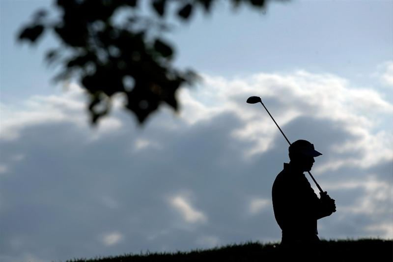 CHASKA, MN - AUGUST 14:  Vijay Singh of Fiji waits on the tenth tee during the second round of the 91st PGA Championship at Hazeltine National Golf Club on August 14, 2009 in Chaska, Minnesota.  (Photo by Jamie Squire/Getty Images)