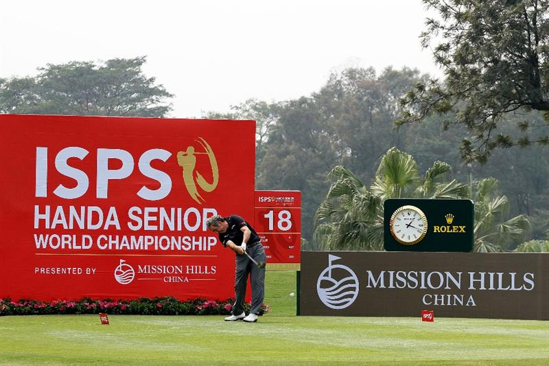 SHENZHEN, CHINA - MARCH 10:  Sam Torrance of Scotland competes in the Pro-Am for the ISPS Handa Senior World Championship presented by Mission Hills and played on the World Cup Course on March 10, 2011 in Shenzhen, Guangdong.  (Photo by Phil Inglis/Getty Images)