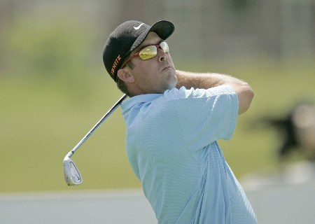 Chris Couch on the 17th hole during the third round of the 2005 LaSalle Bank Open at the The Glen Club in Glenview, Illinois on June 11, 2005.Photo by Mike Ehrmann/WireImage.com