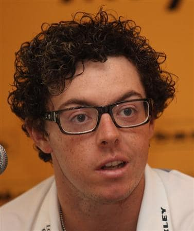 KUALA LUMPUR, MALAYSIA - APRIL 13:  Rory McIlroy of Northern Ireland speaks to the press during a practice round ahead of the Maybank Malaysian Open at Kuala Lumpur Golf & Country Club on April 13, 2011 in Kuala Lumpur, Malaysia.  (Photo by Ian Walton/Getty Images)