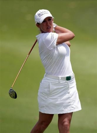 SINGAPORE - FEBRUARY 26:  Cristie Kerr of the USA during the third round of the HSBC Women's Champions at Tanah Merah Country Club  on February 26, 2011 in Singapore, Singapore.  (Photo by Ross Kinnaird/Getty Images)