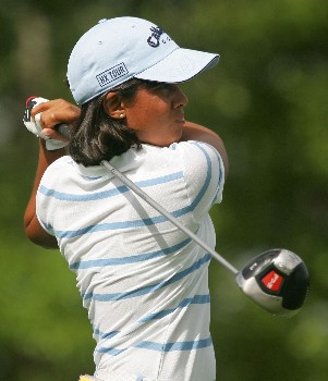 MT. PLEASANT, SC - JUNE 01:  Julieta Granada of Paraguay hits a shot on the fourth hole during the second round of the Ginn Tribute hosted by ANNIKA at RiverTowne County Club on June 1, 2007 in Mt. Pleasant, South Carolina.  (Photo by Scott Halleran/Getty Images)