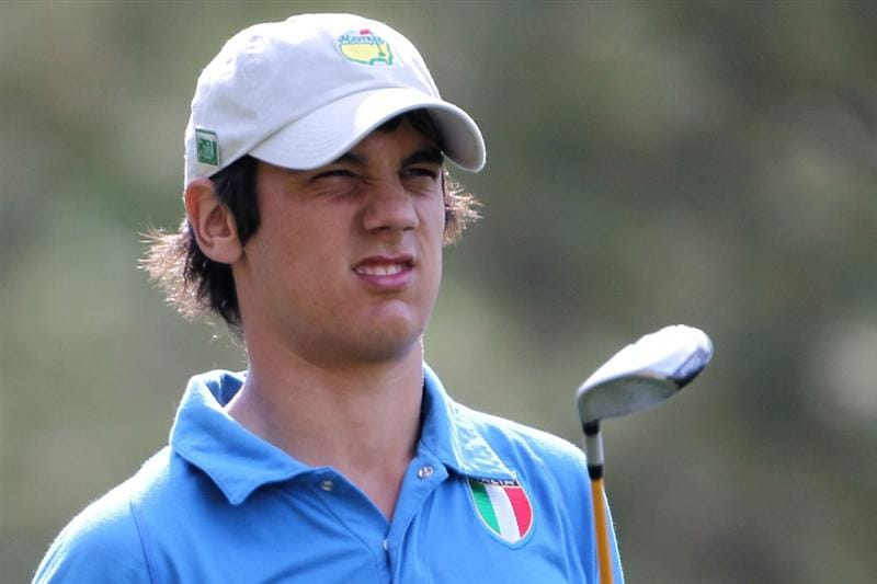 AUGUSTA, GA - APRIL 08:  Amateur Matteo Manassero of Italy watches a shot on the fourth hole during the first round of the 2010 Masters Tournament at Augusta National Golf Club on April 8, 2010 in Augusta, Georgia.  (Photo by Jamie Squire/Getty Images)