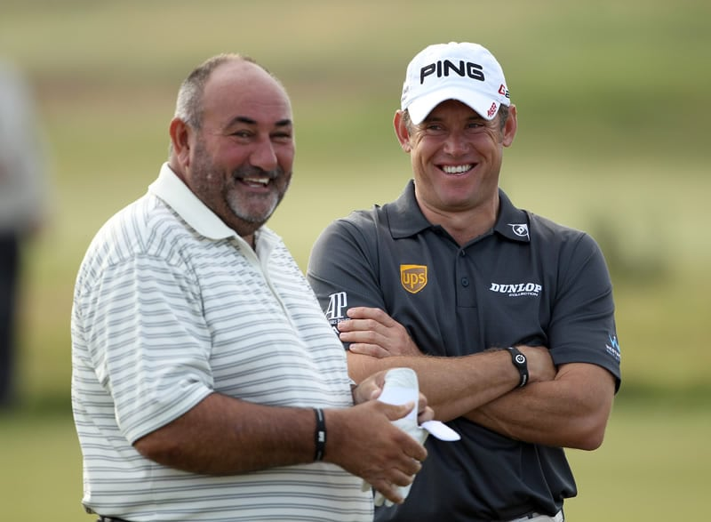 'Chubby' Chandler and Lee Westwood