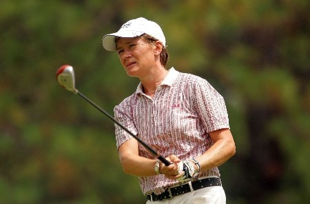 SOUTHERN PINES, NC - JUNE 30:  Catriona Matthew of Scotland watches her tee shot on the 15th hole during the completion of round two of the U.S. Women's Open Championship at Pine Needles Lodge & Golf Club on June 30, 2007 in Southern Pines, North Carolina.  (Photo by Scott Halleran/Getty Images)