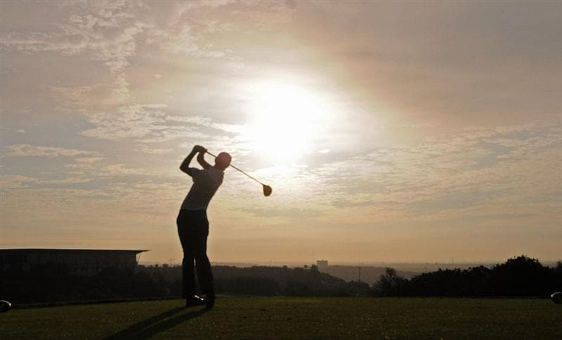 SAN ANTONIO,TX - OCTOBER 10: Jesper Parnevik tees off the 5thhole during the second round of the Valero Texas Open  held at La Cantera Golf Club on October 10, 2008 in San Antonio, Texas  (Photo by Marc Feldman\Getty Images)