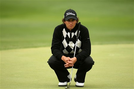 IRVING, TX - APRIL 27:  Adam Scott of Australia waits to putt on the 12th hole during the final round of the EDS Byron Nelson Championship at TPC Four Seasons Resort Las Colinas April 27, 2008 in Irving, Texas. Scott went on to defeat Ryan Moore on the third playoff hole.  (Photo by Stephen Dunn/Getty Images)