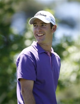RENO, NV - AUGUST 3: Andrew Buckle of Australia smiles during the final round of the Legends Reno-Tahoe Open at the Montreux Golf & Country Club on August 3, 2008 in Reno, Nevada. (Photo by Max Morse/Getty Images)