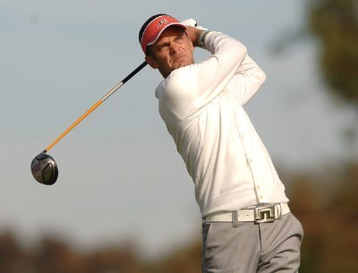 Jesper Parnevik hits from the second tee during the third round of the PGA TOUR's 2006 Buick Invitationa at Torrey Pines South in La Jolla, California January 28, 2006.Photo by Steve Grayson/WireImage.com