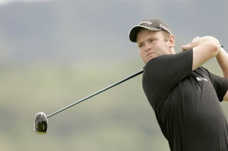Alastair Forsyth watches his drive during the final round of the 2005 Barclays Scottish Open at the Loch Lomond Golf Club. July 10, 2005Photo by Pete Fontaine/WireImage.com