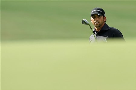 BLOOMFIELD HILLS, MI - AUGUST 10:  Sergio Garcia of Spain watches his third shot to the 12th hole during the final round of the 90th PGA Championship at Oakland Hills Country Club on August 10, 2008 in Bloomfield Township, Michigan.  (Photo by David Cannon/Getty Images)