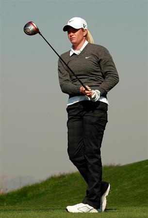 INCHEON, SOUTH KOREA - OCTOBER 29:  Suzann Pettersen of Norway hits a tee shot on the 13th hole during the 2010 LPGA Hana Bank Championship at Sky 72 golf club on October 29, 2010 in Incheon, South Korea.  (Photo by Chung Sung-Jun/Getty Images)