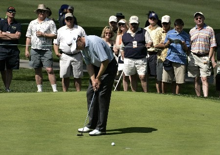Mike Reid on the 1st  hole and who came in 4th place during the 2nd round of the SBC Classic PGA  Tour at the Valencia Country Club in  Valencia, California on March 12, 2005.