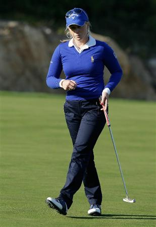 INCHEON, SOUTH KOREA - OCTOBER 29:  Morgan Pressel of United States on the 17th green during the 2010 LPGA Hana Bank Championship at Sky 72 golf club on October 29, 2010 in Incheon, South Korea.  (Photo by Chung Sung-Jun/Getty Images)