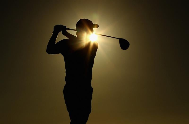 VILAMOURA, PORTUGAL - OCTOBER 15:  David Horsey of England tee's off at the 18th during the second round of the Portugal Masters at the Oceanico Victoria Golf Course on October 15, 2010 in Vilamoura, Portugal.  (Photo by Richard Heathcote/Getty Images)