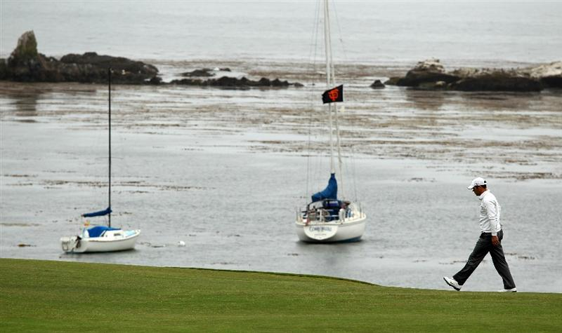 PEBBLE BEACH, CA - JUNE 18:  Paul Casey of England walks up the fourth fairway during the second round of the 110th U.S. Open at Pebble Beach Golf Links on June 18, 2010 in Pebble Beach, California.  (Photo by Ross Kinnaird/Getty Images)