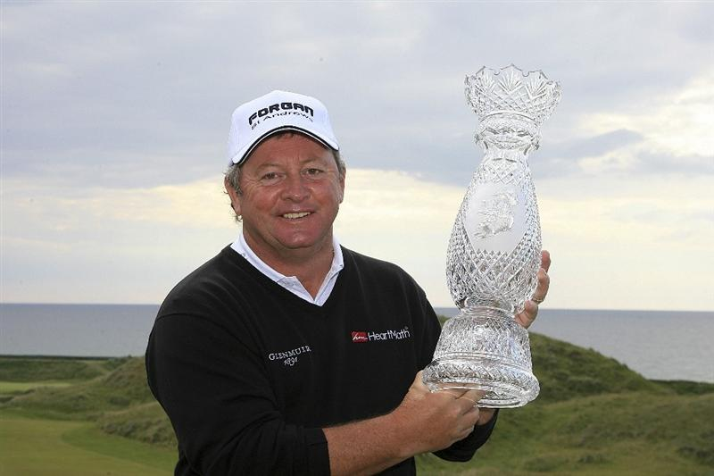 BALLYBUNION, IRELAND - JUNE 07:  Ian Woosnam of Wales poses with the trophy after a three hole play off after the final round of the Irish Seniors Open played at the Old Course, Ballybunion Golf Club on June 7, 2009 in Ballybunion, Ireland  (Photo by Phil Inglis/Getty Images)