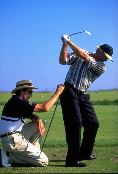 Greg Norman and David Leadbetter