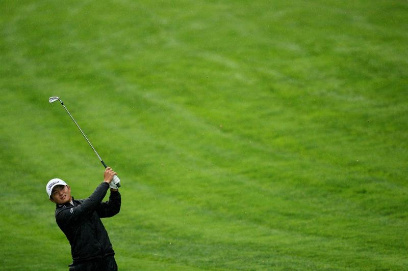 FARMINGDALE, NY - JUNE 18:  Ryuji Imada of Japan hits his approach shot on the second hole during the first round of the 109th U.S. Open on the Black Course at Bethpage State Park on June 18, 2009 in Farmingdale, New York.  (Photo by Ross Kinnaird/Getty Images)
