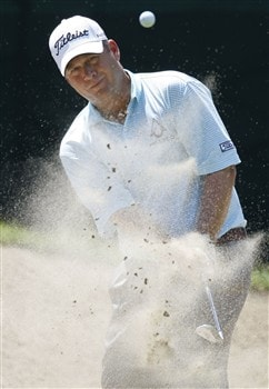 GRAND BLANC, MI - JUNE 28: Dudley Hart hits from a bunker to the ninth green during the third round of the Buick Open at Warwick Hills Golf and Country Club on June 28, 2008 in Grand Blanc, Michigan.  (Photo by Gregory Shamus/Getty Images)