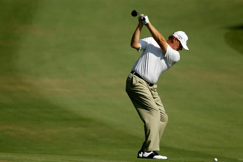 ATLANTA - SEPTEMBER 23:  Ernie Els of South Africa hits a shot on the 15th hole during the first round of THE TOUR Championship presented by Coca-Cola at East Lake Golf Club on September 23, 2010 in Atlanta, Georgia.  (Photo by Scott Halleran/Getty Images)