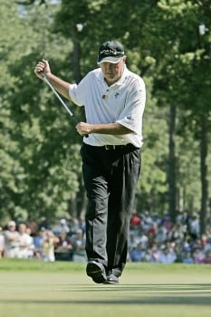 Allen Doyle wins the U. S. Senior Open, July 31,2005, held at the NCR Country Club, Kettering, Ohio.Photo by Stan Badz/PGA TOUR/WireImage.com