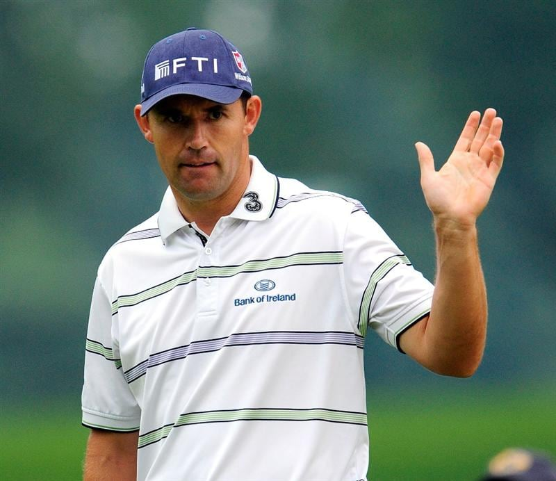 AKRON, OH - AUGUST 08:  Padraig Harrington of Ireland reacts to a putt on the 14th hole during the third round of the WGC-Bridgestone Invitational on the South Course at Firestone Country Club on August 8, 2009 in Akron, Ohio.  (Photo by Sam Greenwood/Getty Images)