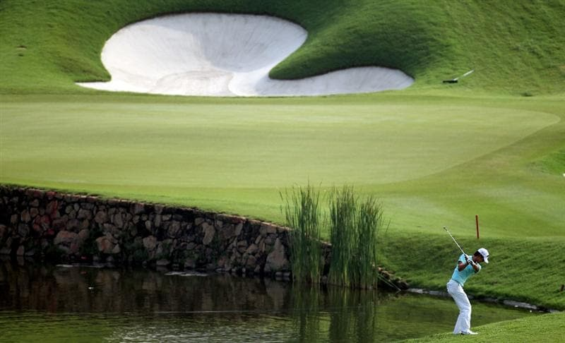 KUALA LUMPUR, MALAYSIA - MARCH 05:  Danny Lee of New Zealand on the par four 14th hole during the second round of the Maybank Malaysia Open at the Kuala Lumpur Golf & Country on March 5, 2010 in Kuala Lumpur, Malaysia.  (Photo by Ross Kinnaird/Getty Images)