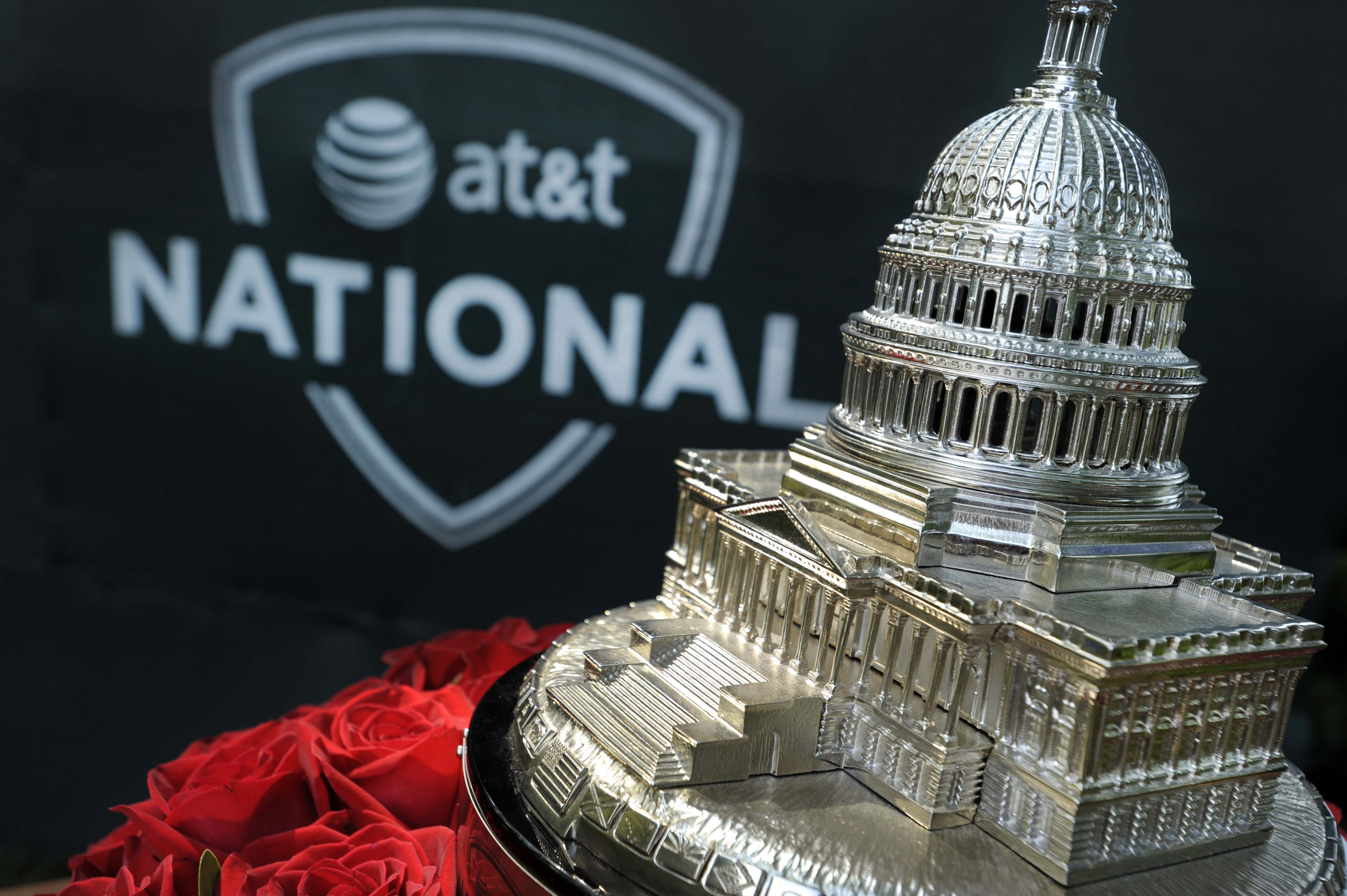 AT&T National winner's trophy