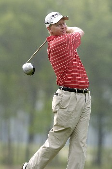 Kent Jones tees off the 12th hole during the first round of the Shell Houston Open, Thursday April 21, 2005 at the Redstone Golf Club, Humbele, Texas.Photo by Marc Feldman/WireImage.com