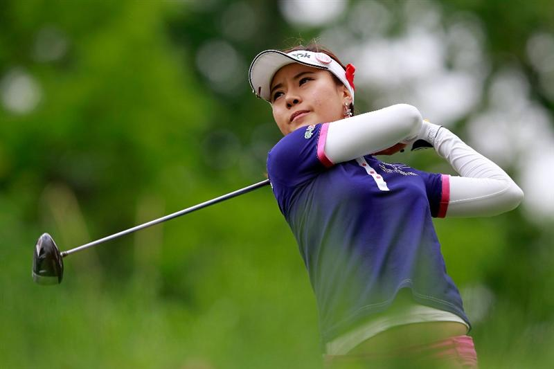GLADSTONE, NJ - MAY 19:  Hee Young Park of South Korea hits her tee shot on the second hole during round one of the Sybase Match Play Championship at Hamilton Farm Golf Club on May 19, 2011 in Gladstone, New Jersey.  (Photo by Chris Trotman/Getty Images)
