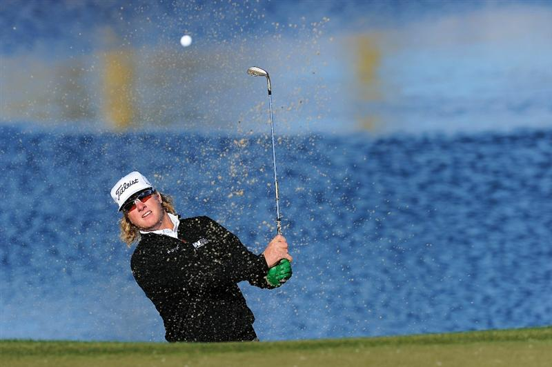 MARANA, AZ - FEBRUARY 23:  Charley Hoffman plays from a bunker on the third hole during the first round of the Accenture Match Play Championship at the Ritz-Carlton Golf Club on February 23, 2011 in Marana, Arizona.  (Photo by Stuart Franklin/Getty Images)