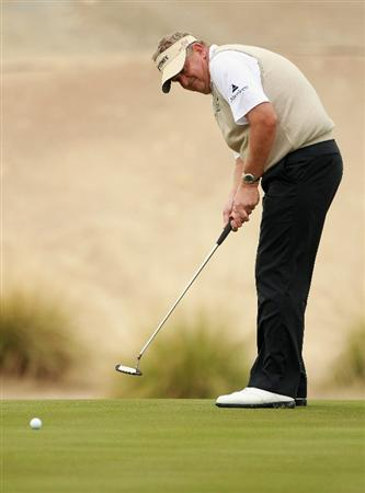 BAHRAIN, BAHRAIN - JANUARY 26:  Colin Montgomerie of Scotland in action during the Pro Am prior to the start of the Volvo Golf Champions at The Royal Golf Club on January 26, 2011 in Bahrain, Bahrain.  (Photo by Andrew Redington/Getty Images)