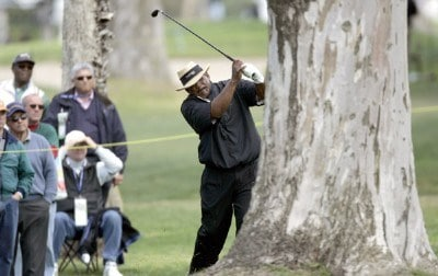 Jim Thorpe in action during the first round of the Toshiba Classic, March 17, 2006, held at Newport Beach Country Club, Newport Beach, California. Photo by Gregory Shamus/WireImage.com
