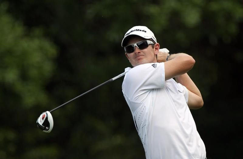 PALM HARBOR, FL - MARCH 20:  Justin Rose of England plays a shot on the 9th hole during the final round of the Transitions Championship at Innisbrook Resort and Golf Club on March 20, 2011 in Palm Harbor, Florida.  (Photo by Sam Greenwood/Getty Images)