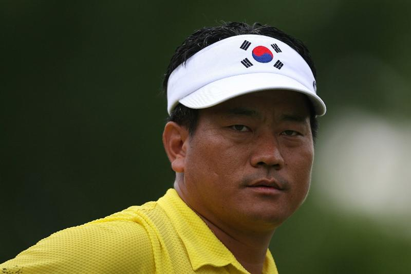 AVONDALE, LA - APRIL 23:  K.J. Choi of South Korea stands on the 11th hole during the second round of the Zurich Classic at TPC Louisiana on April 23, 2010 in Avondale, Louisiana.  (Photo by Chris Trotman/Getty Images)
