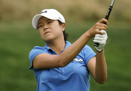 HUIXQUILUCAN, FL - MARCH 9:  Hee-Won Han of South Korea watches her tee shot on the tenth hole during the first round of the MasterCard Classic at Bosque Real Country Club on March 9, 2007 in Huixquilucan, Mexico. (Photo by Scott Halleran/Getty Images)